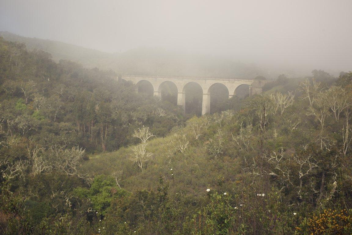 Eisenbahnbrücke Reise durch schöne Natur Faro, Lissabon, Anreise Alentejo Portugal, great nature, view, sight